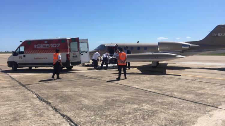 La provincia trasladó a Bernarda Massolo desde Brasil hasta el hospital Cullen